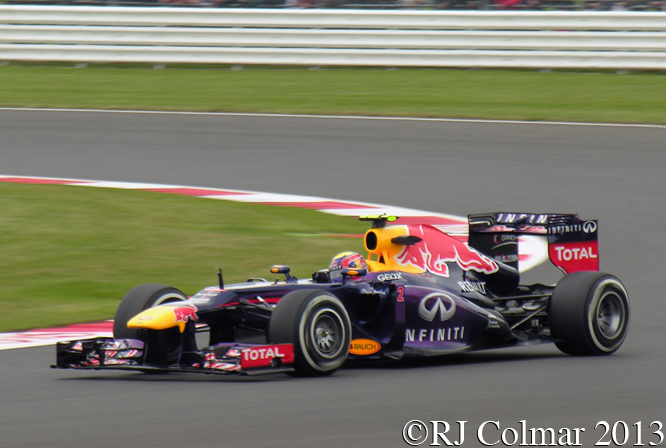 Webber , Red Bull Renault, RB9, British Grand Prix, P2, Silverstone