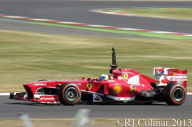 Massa, Ferrari F138, Young Driver Test, Silverstone