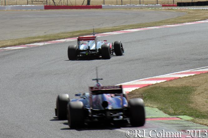 Parffett, McLaren MP4-28, Vergne, Torro Rosso STR8, Young Driver Test, Silverstone