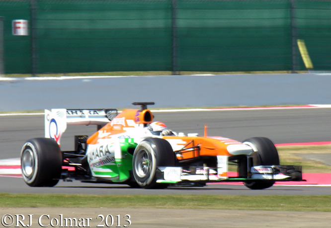Sutil, Force India VJM06, Young Driver Test, Silverstone