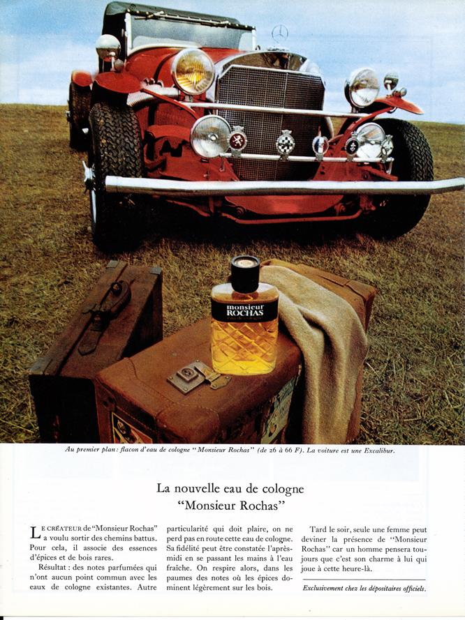 Excalibur, Monsieur Rochas, Advertisement, Connaissance des arts