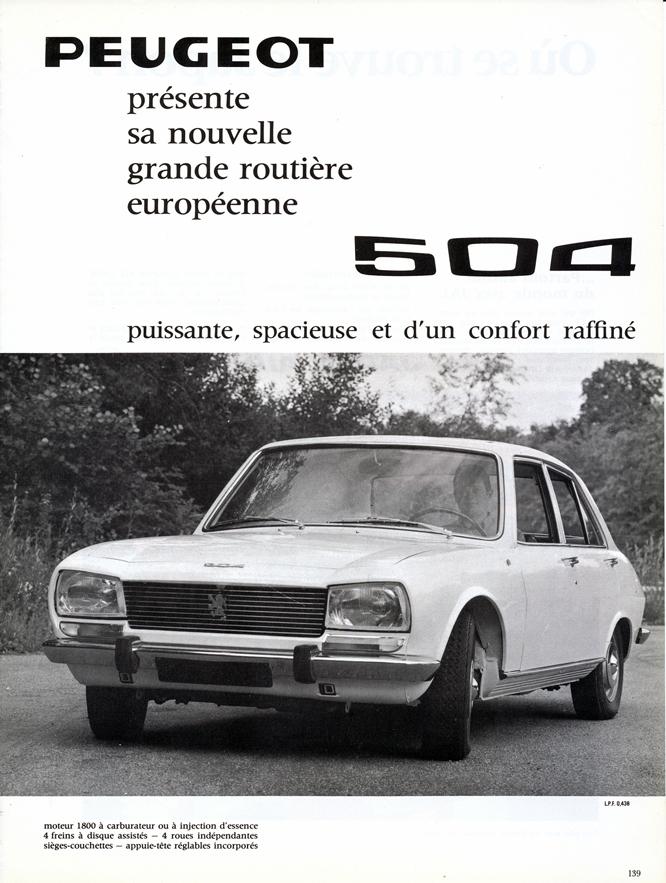 Peugeot, 504, Advertisement, Connaissance des arts