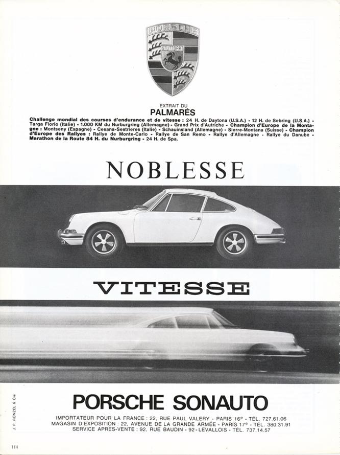 Porsche, 911, Advertisement, Connaissance des arts