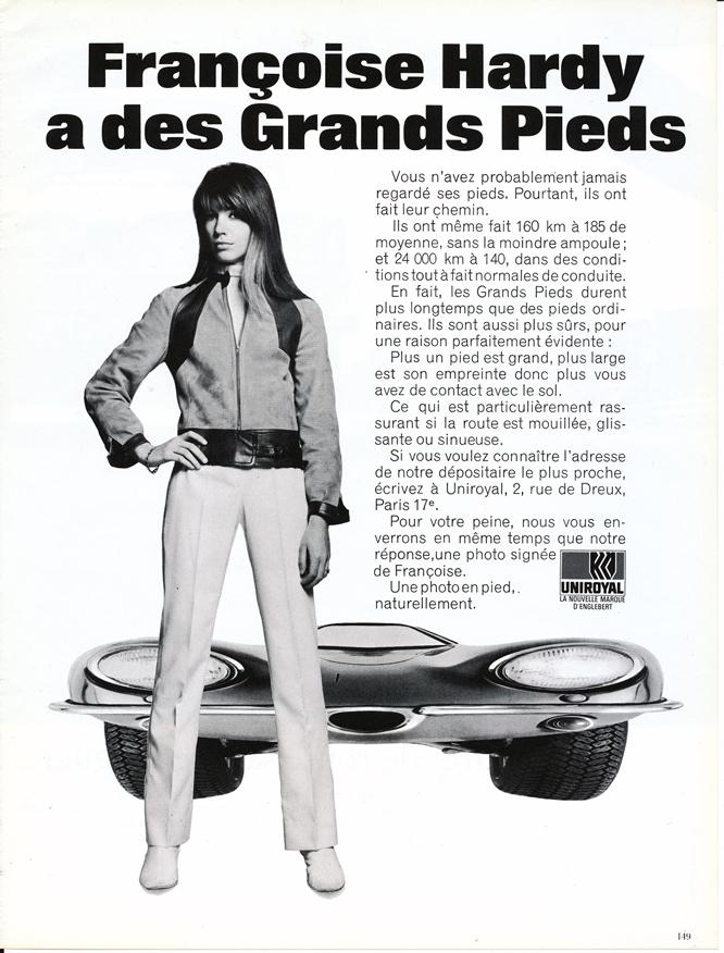 François Hardy, Uniroyal,  Advertisement, Connaissance des arts