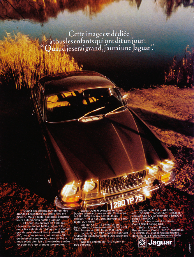 Jaguar XJ6, Advertisement, Connaissance des arts