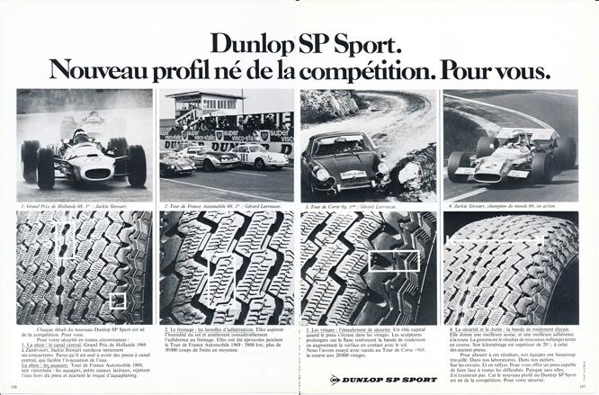 Dunlop SP Sport, Advertisement, Connaissance des arts