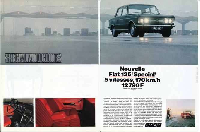 FIAT 125 'Special', Advertisement, Connaissance des arts