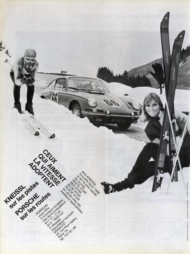 Sonauto Kneissl Porsche 911, Advertisement, Connaissance des arts