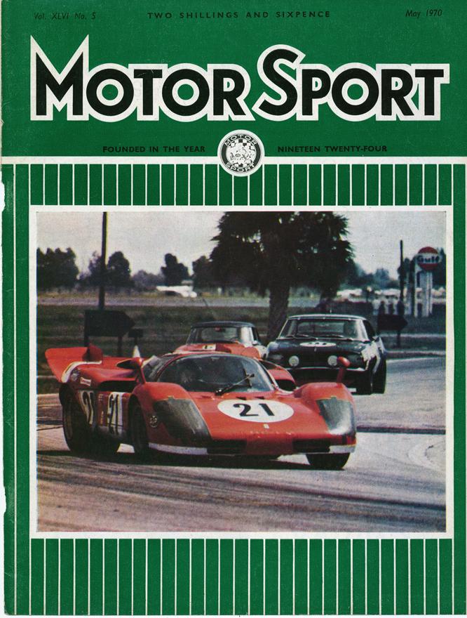 MotorSport Cover 05/70, Andretti, Ferrari 512S, Sebring