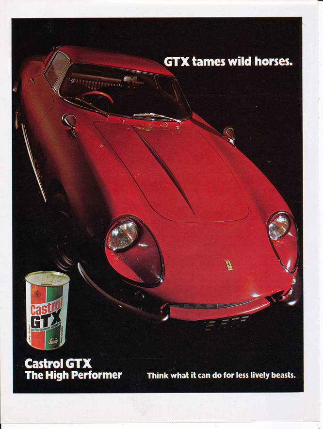 Castrol GTX Advertsement, Ferrari 275 GTB/4