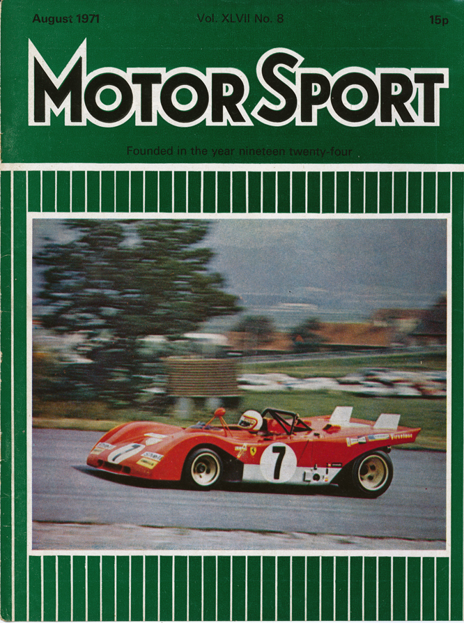 MotorSport Cover, 08/71, Clay Regazzoni, Ferrari 312 PB, Zeltweg