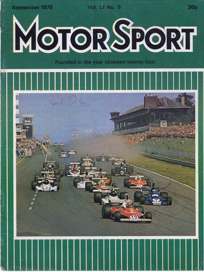 MotorSport, September 1975, German Grand Prix