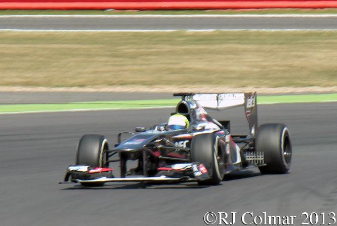 Gutiérrez, Sauber Ferrari C32, Young Driver Test, Silverstone
