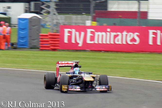 Vergne, Toro Rosso STR8, British Grand Prix P2, Silverstone