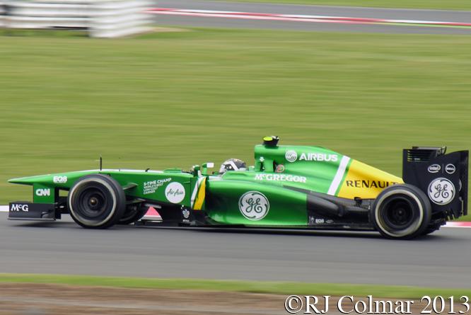 van der Garde, Caterham Renault CT03, British Grand Prix P1, Silverstone