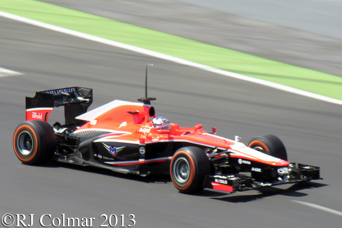Marussia Cosworth MR02, Chilton, Young Driver Test, Silverstone