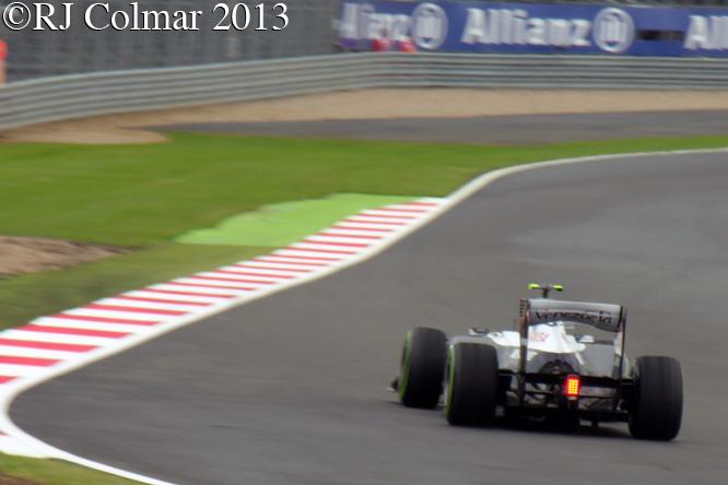 Bottas Williams Renault  FW35, British Grand Prix P2, Silverstone