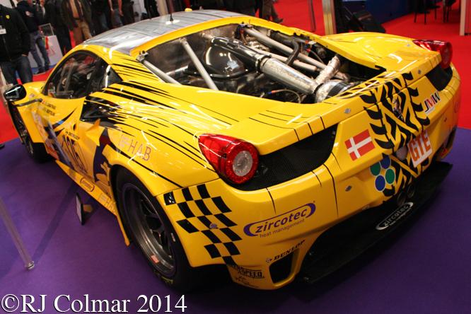Ferrari 458 Italia GT2, Autosport International, NEC, Birmingham