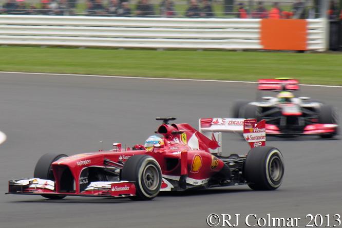 Ferrari F138, Alonso, British Grand Prix P2, Silverstone