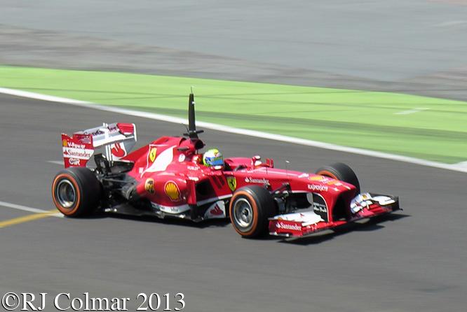 Ferrari F138, Massa, Young Diver Test, Silverstone