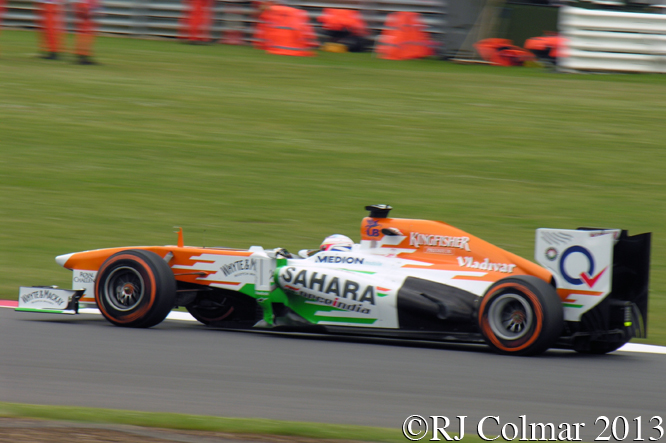 Force India Mercedes VJM06, di Resta, British Grand Prix, P2, Silverstone