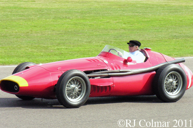 Maserati 250F, SIr Jackie Stewart, Goodwood Revival