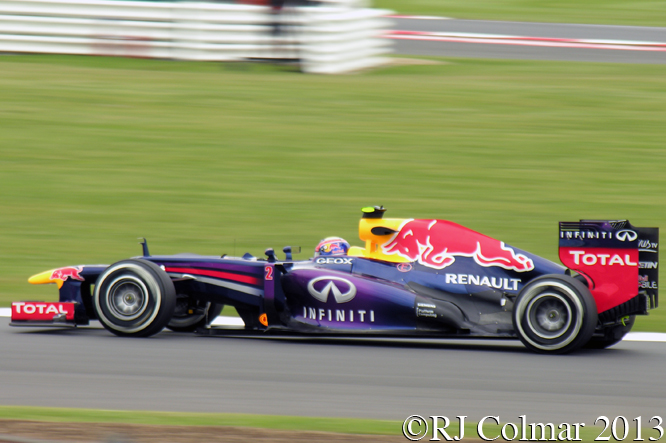 Red Bull RB9, Webber, British Grand Prix P2, Silverstone