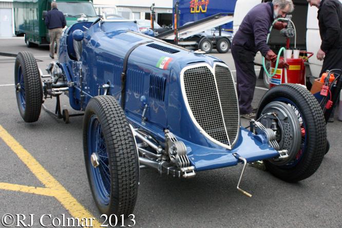 Maserati 8CM, HGPCA Test Day, Silverstone