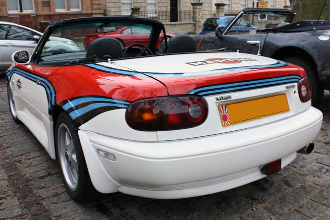 Mazda MX5, Avenue Drivers Club, Queen Sq, Bristol