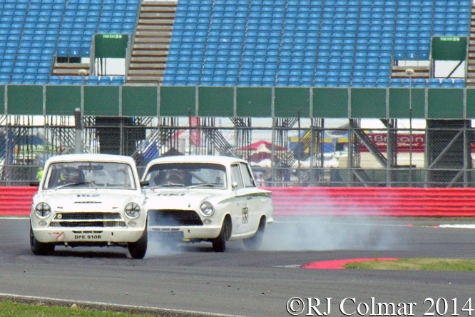 Ford Cortinas, Shedden, Meaden, Silverstone Classic