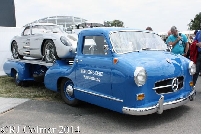 Mercedes Benz High Speed Transporter, 300SLR Uhlenhaut Coupé, Goodwood Festival of Speed