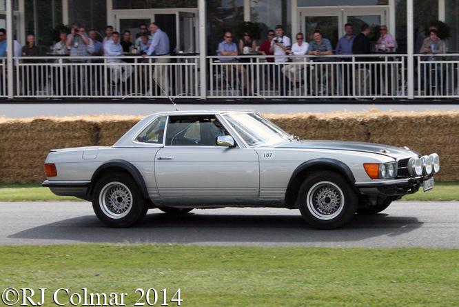Mercedes Benz 500SL Rallye, Asch, Goodwood Festival of Speed