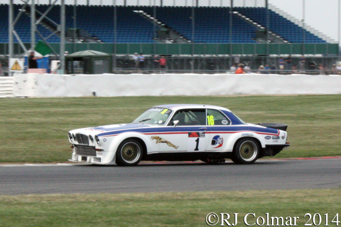 Jaguar XJC, Chris Scragg, Jet Super Touring Car  Trophy, Silverstone Classic