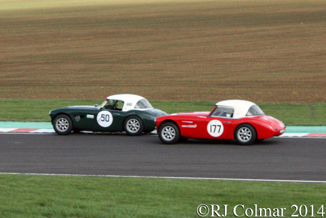 David Smithies, Bruce Montgomery, Austin Healey Challenge, Autumn Classic, Castle Combe