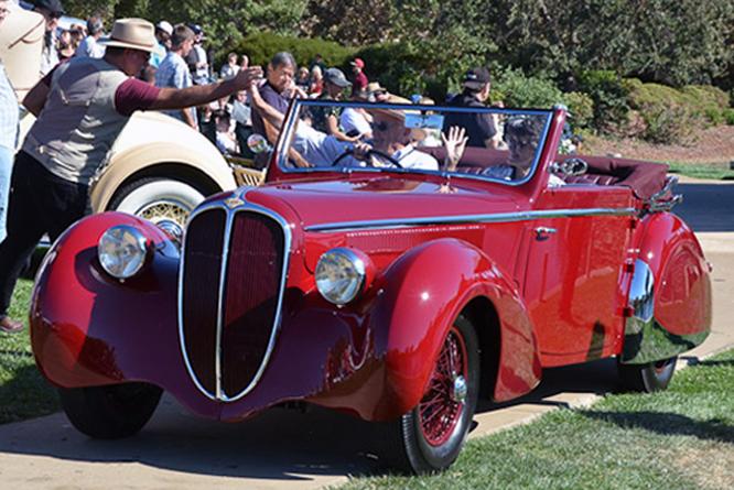 Delahaye 135M, Pennock Cabriolet, Niello Concours at Serrano