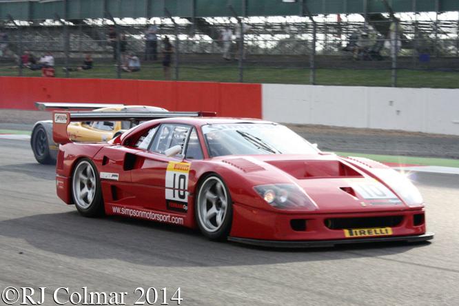 Ferrari F40, GT Legends, Silverstone Classic,
