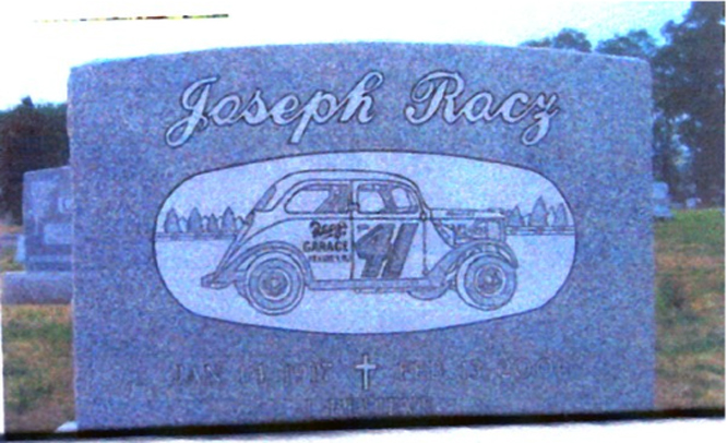 Joe Racz Headstone By Charles Lindmar