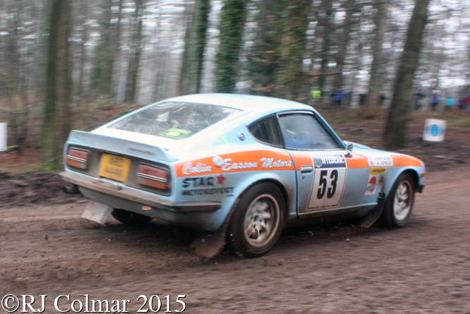 Datsun 240Z, Easson, Reynolds, Blaze Bailey, Wyedean Rally