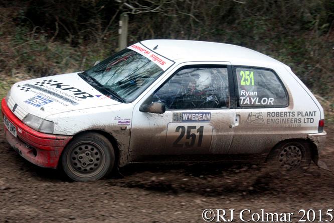 Peugeot 106, Matthew Davis, Ryan Taylor, Mailscot, Wyedean Forest Rally