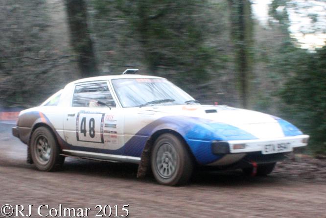 Mazda RX7, Scannell, Stevens, Blaze Bailey, Whedean Rally,
