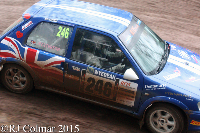 Peugeot 106 Rallye 2, Rachel Patterson, Tom Wood, Blaze Bailey, Wyedean Forest Rally,