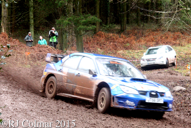 Subaru Impreza WRC, David Weston, Kirsty Riddick, Blaze Bailey, Wyedean Forest Rally