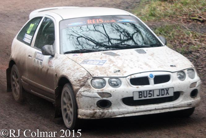 MG ZR, Riddick, Riddick, Mailscot Wyedean Rally,