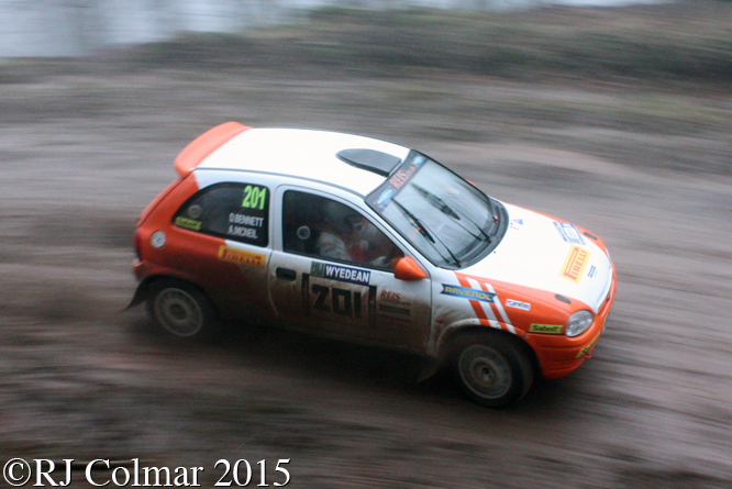 Vauxhall Corsa, Bennett, McNeil, Blaze Bailey, Wyedean Rally,