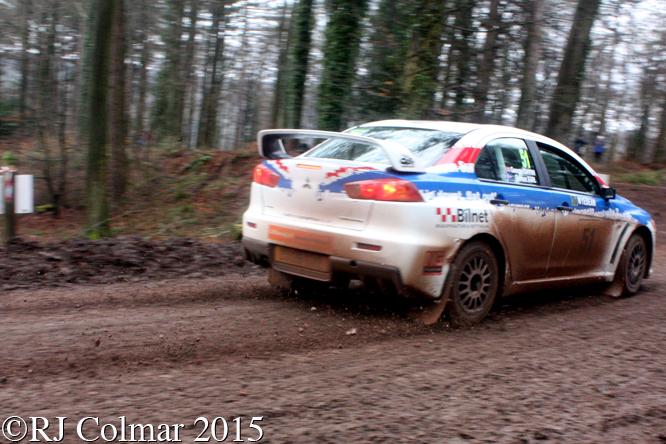 Mitsubishi EVO X, Gunnar Karl Johannesson, George Gwynn, Blaze Bailey, Wyedean Forest Rally