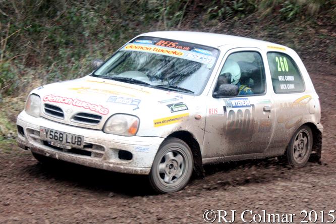 Nissan Micra, Quinn, Carmen, Mailscot, Wyedean Rally,
