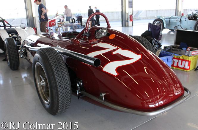 Kurtis 500C, Silverstone Classic, Test Day,