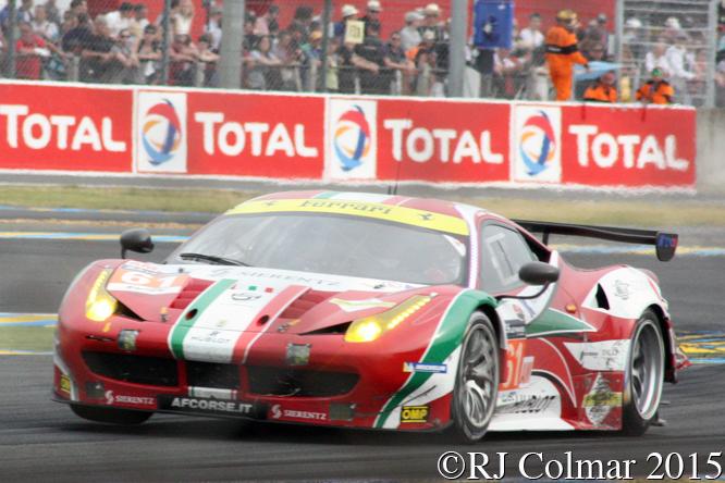 Ferrari 458 Italia GT2, Peter Ashley Mann, Raffaele Giammaria, Matteo Cressoni, Le Mans