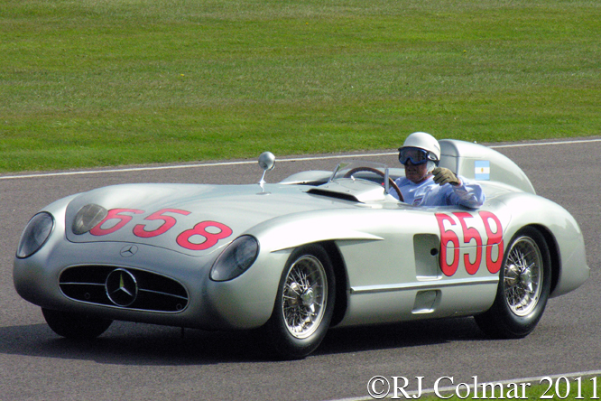 Mercedes Benz 300SLR, Stirling Moss, Goodwood Revival,