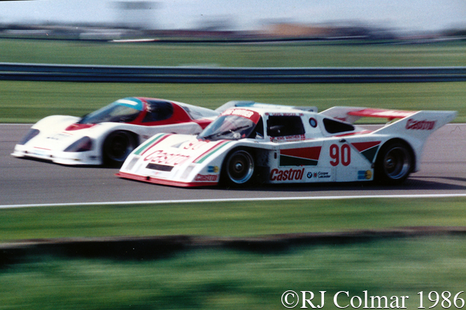 #90 URD  David Mercer, Jens Winther, #201 Mazda David Kennedy, Takashi Yorino,  Kouros 1000 Kms Silverstone,